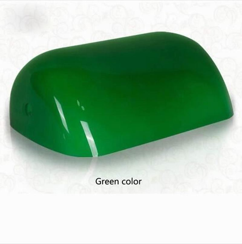 FANHHUI Led Desk Lamp Retro Vintage Green / White / Blue Color Glass Banker Lamp Cover/bankers Desk Lamps     - title=