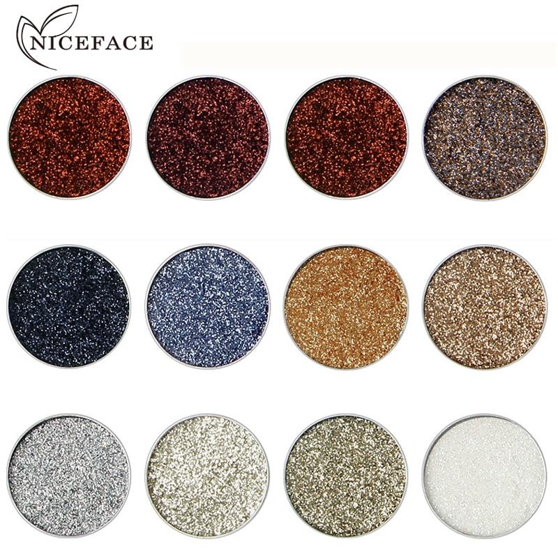 2018 New Shimmer Eye Shadow Color Cosmetics Waterproof Pigment Black Blue Silver Refill Single Glitter Eyeshadow Plattes