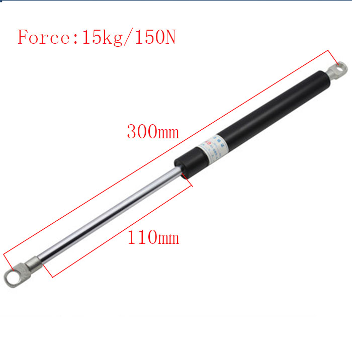 Free shipping 300mm central distance, 110 mm stroke, pneumatic Auto Gas Spring, Lift Prop Gas Spring Damper free shipping500mm central distance 200mm stroke 80 to 1000n force pneumatic auto gas spring lift prop gas spring damper