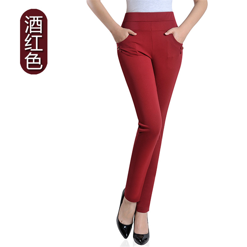 Summer Fashion Pencil Pants Women Spring Cute Candy Colors Pencil Pants Elegant Basic Stretch Big Size Mom Pants Leggings Pants 30