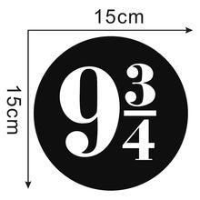 Zuczug 9 3/4 Harry Potter Platform 9 And 3 Quarters Sticker Wall Art 15X15CM