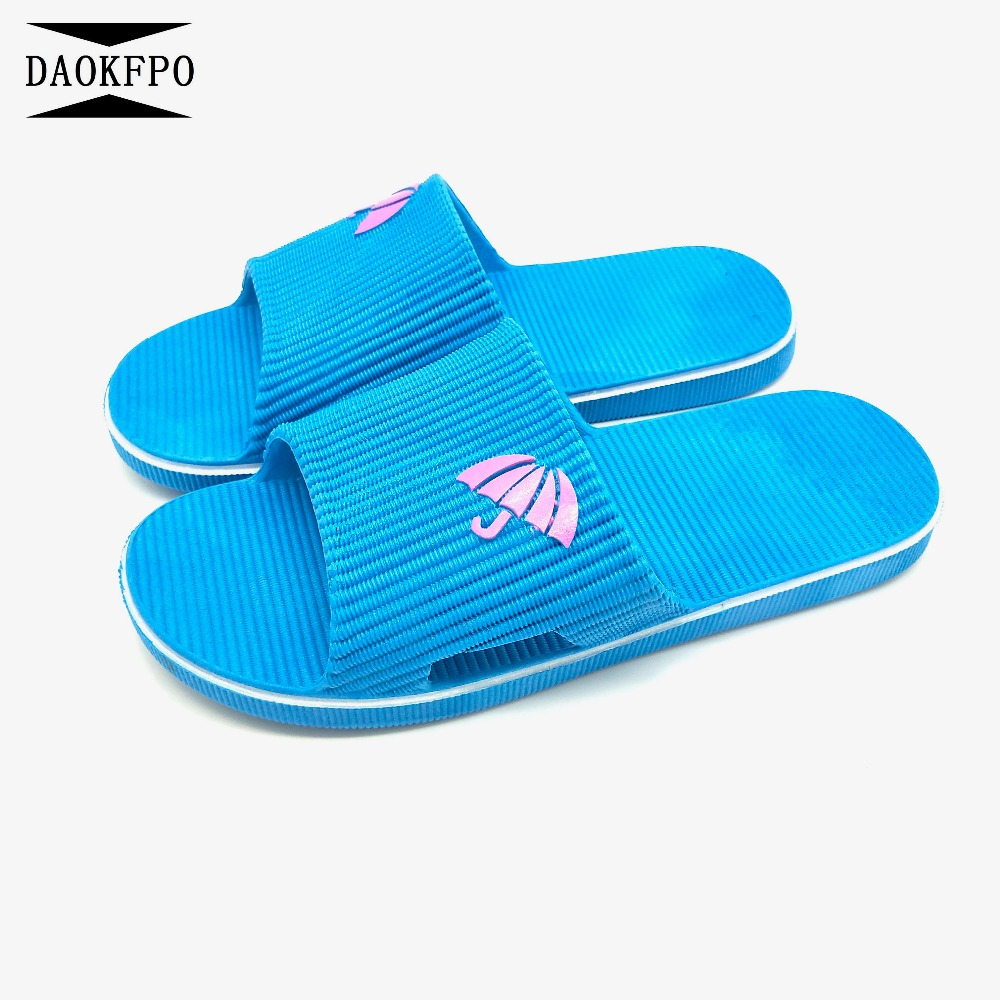 DAOKFPO 2018 Summer Woman Shoes Platform Slippers Flat Bottom Beach Flip Flops Home indoor Slippers For Women Shoes NVT-50