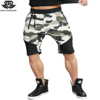 Body Engineers 2017 Men Fitness Summer Gyms Board Shorts Men S Bodybuilding Workout 3D Camouflage Casual