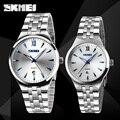 Relojes hombres marca de lujo Skmei cuarzo señora Digital de acero lleno de pulsera de buceo 30 m reloj ocasional del relogio masculino mujer
