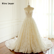 HIRE LNYER Custom Made V-neck Wedding Dresses