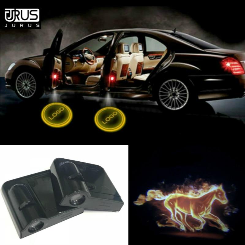 2Pcs For CHRYSLER LOGO WIRELESS LED Car Door Step Courtesy Shadow Laser Lights