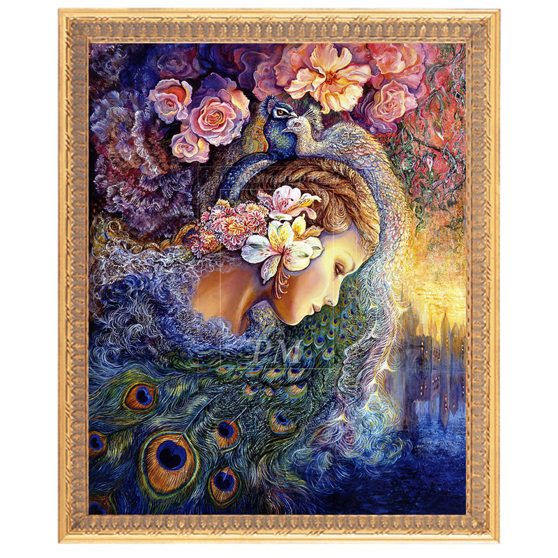 Hot Sale Embroidery, DIY DMC 11ct Cross Stitch, Cross Stitch Kits Stitch Beautiful Face Flowers, Home Decorative Murals In Stock