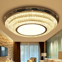 Crystal LED Lamp Ceiling Lights Round Concise Modern Luxurious Restaurant Bedroom Led Home Lighting Ceiling Lamps