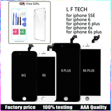 купить For iPhone 6 6S 6 plus 6S plus LCD Touch Screen Digitizer Assembly Display LCD + tools+Tempered Glass protector No Dead Pixel по цене 839.54 рублей