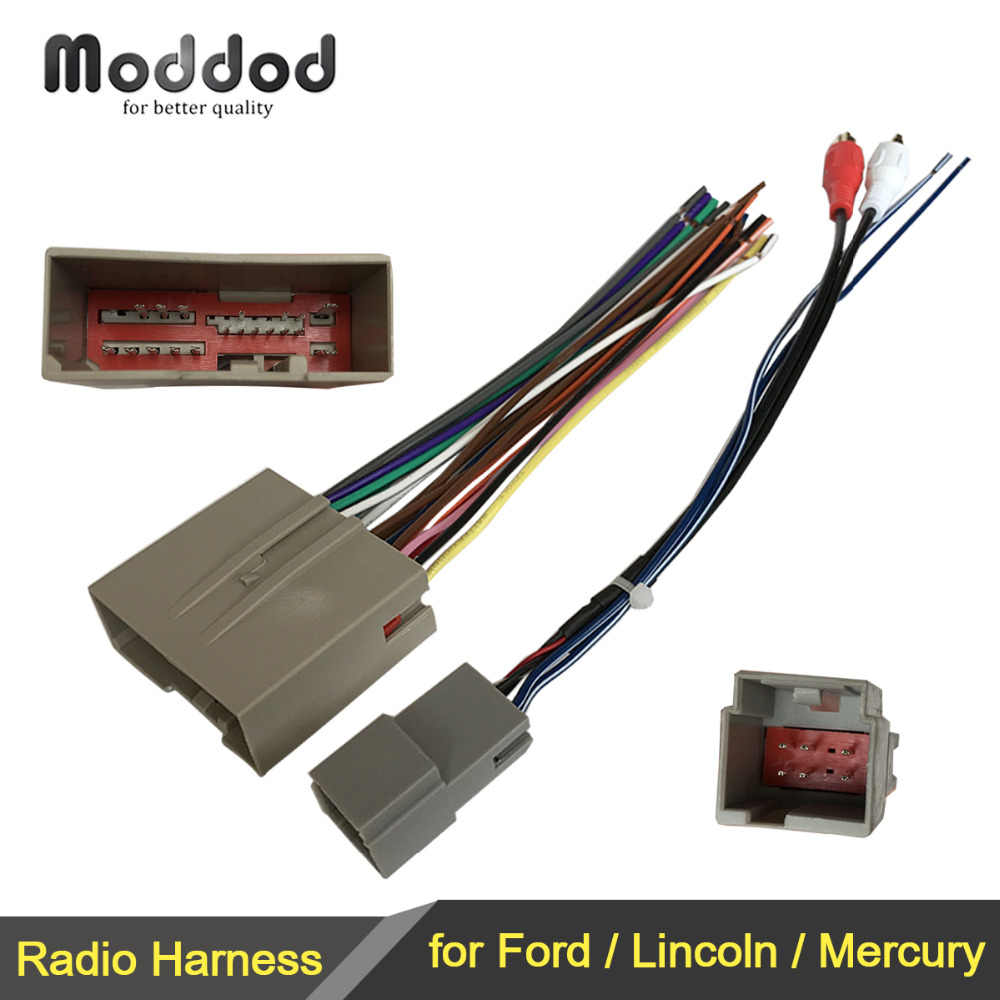 Wire Harness Cable for Ford Lincoln Mercury Wiring Harness+Antenna Aerial Adaptor Connector Stereo GPS Installation