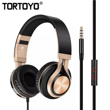 3.5mm Universal Metal Super Bass Stereo Phone Headphone Wired Music Headset with Microphone for iPhone Smart Phone PC Tablet MP3
