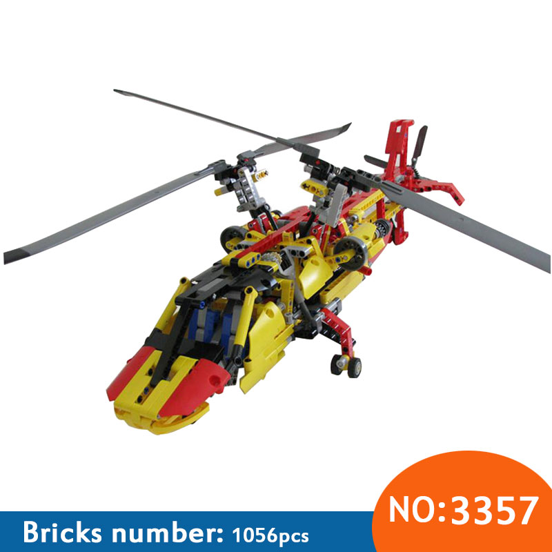 2018 New 3357 Technic Helicopter building bricks blocks Toys for children Game Car Formula 1 Compatible with 9396 yile 107 2 in 1 3353 3354 technic motorbike motorcycle car building bricks blocks toys for children boy game bela 8051