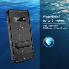 IP68โทรศัพท์กันน้ำสำหรับSamsung S10 Plus S8 S9กรณีว่ายน้ำกันน้ำสำหรับSamsung Galaxyหมายเหตุ10 plus 9ยืน