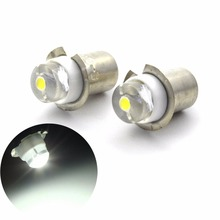 2PCS LED Upgrade COB Bulb For Flashlight Torches Work Light Lamp P13.5S PR2 0.5W DC3V 4.5V 6V 12V 3-18V 5-24V C+D Cell AA Cells freeshipping luminus sst 90 led driver 32mm dc3v 18v input 7000ma output for 3 2 3 6v sst 90 led light lamp