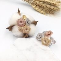 HADIYANA Luksusowe AAA Cyrkonia 3 Kwiat Róży Z Liści mody Pierścionek Dla Kobiety, Fancy Kobiety Cocktail Ring For Party CP9001
