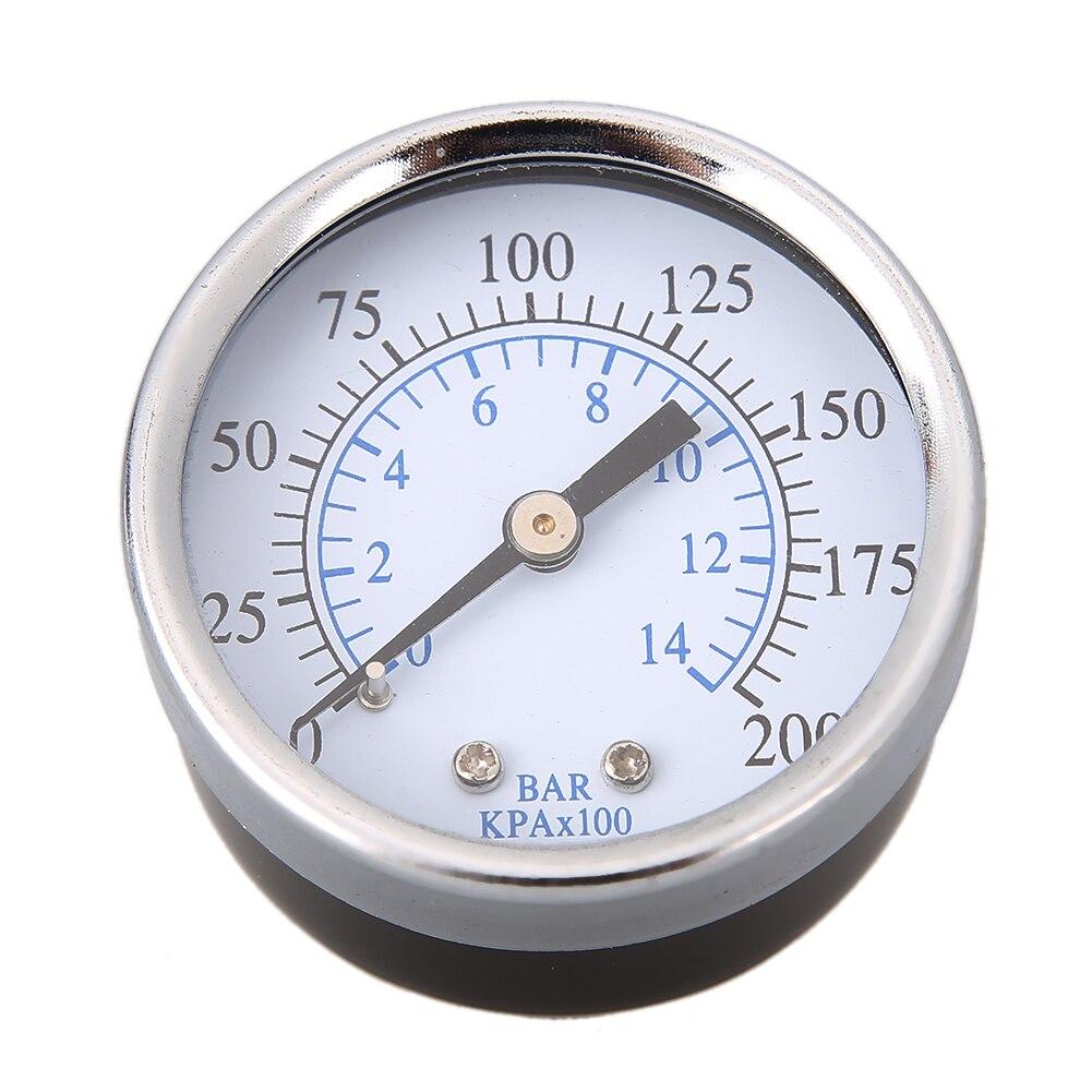 """0-200 PSI back Mount Air Compressor Pressure Gauge 2"""" Face 1/4"""" Male NPT Pipe Threads Air Compressor Hydraulic Pressure Gauge"""