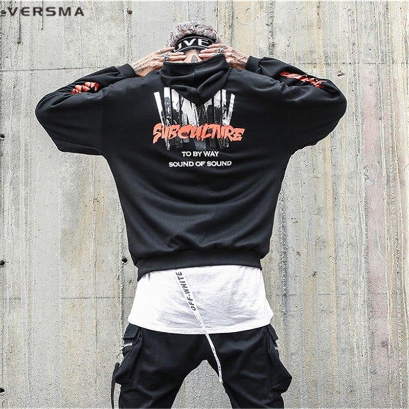 Versma 2017 корейский HARAJUKU GD БЦ печатных свитер с капюшоном Для мужчин Для женщин осень High Street Хип-хоп негабаритных Толстовки Для мужчин 5xl