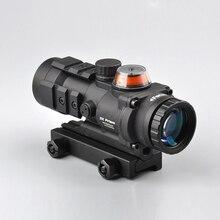 Taktische Optical Sight 3×32 Gp01 Faser Prisma Rot/Grün Beleuchtet Sight Zielfernrohr mit Ballistischen CQ Absehen