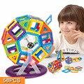 58 Unids/lote Modelos y Juguete Del Edificio Diseñador Magnético de Aprendizaje y Educativos Juguetes Para Niños Bloques de Construcción de Plástico de Ladrillo Técnica