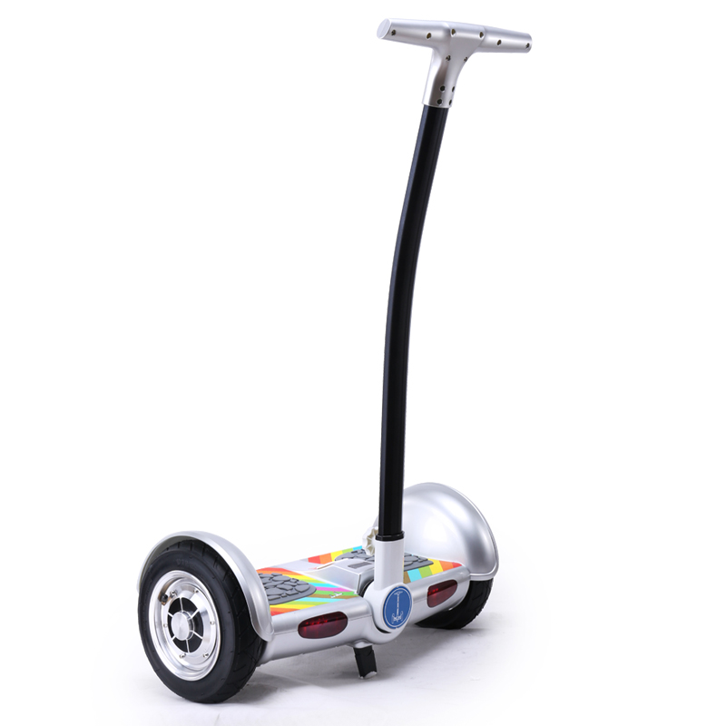 150KG Max Load powerful bluetooth foot scooter 10 inch hoverboard with handlebar