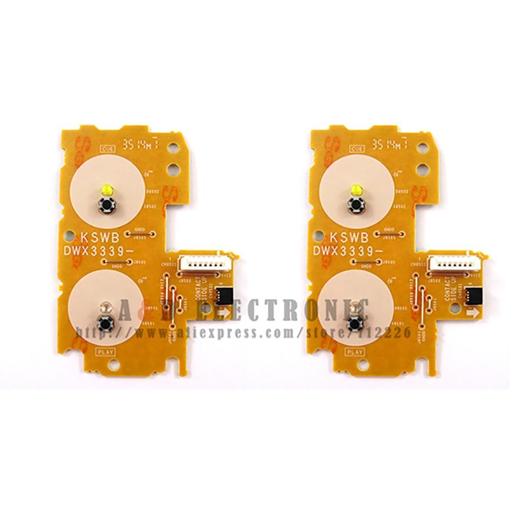 2PCS Play Cue Circuit Board PCB DWX 3339 DWX3339 for Pioneer CDJ 2000 Nexus yellow version