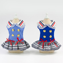 2019 Newest Dog Skirts Handsome Military Dress Small Bow-knot Cute Pet