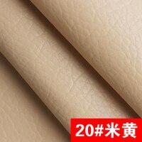 20 Beige Color High Quality Giant Pebble PU Leather Fabric Like Leechee For DIY Sofa Table
