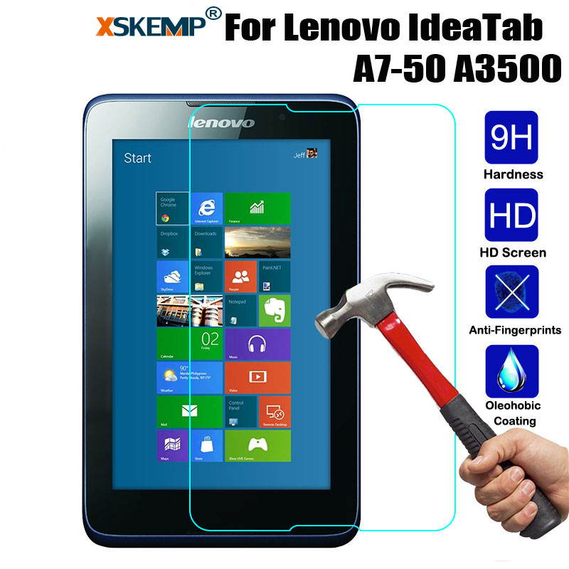 XSKEMP 0.3mm Screen Protector Scratch Proof Tempered Glass For Lenovo Tab A7 A3500 7