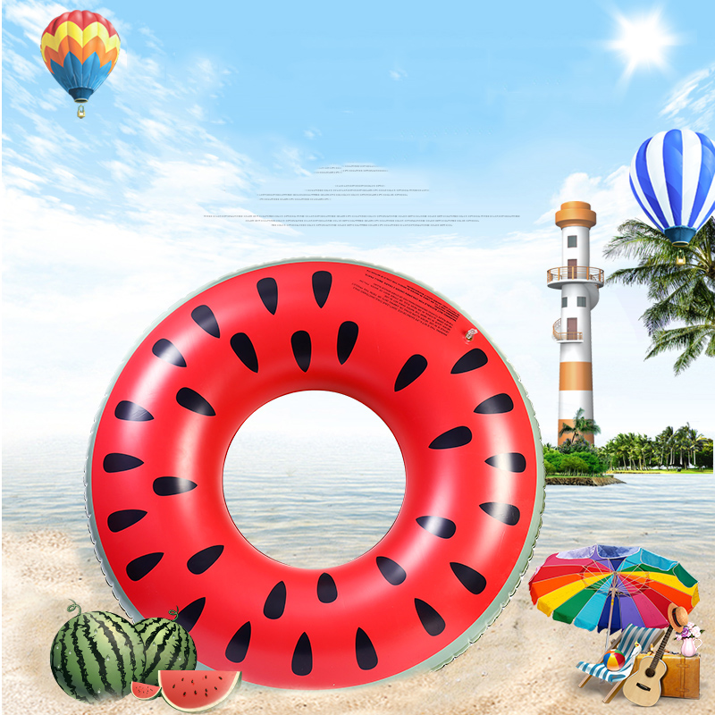 2017 Newest Watermelon Swimming Ring General Inflatable Swimming Float for Children Adult Air Mattress Water Toys Mat Beach