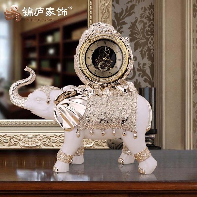 Lucky elephant watch clock ornaments european clock clock - Watch the elephant in the living room ...