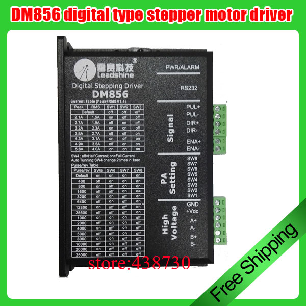 1pcs DM856 32 bit DSP digital driver 86 stepper motor driver two phase stepper motor 20