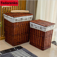 Big laundry basket for clothes laundry basket wicker decorative storage baskets boxes cesta lavanderia panier rangement tissu