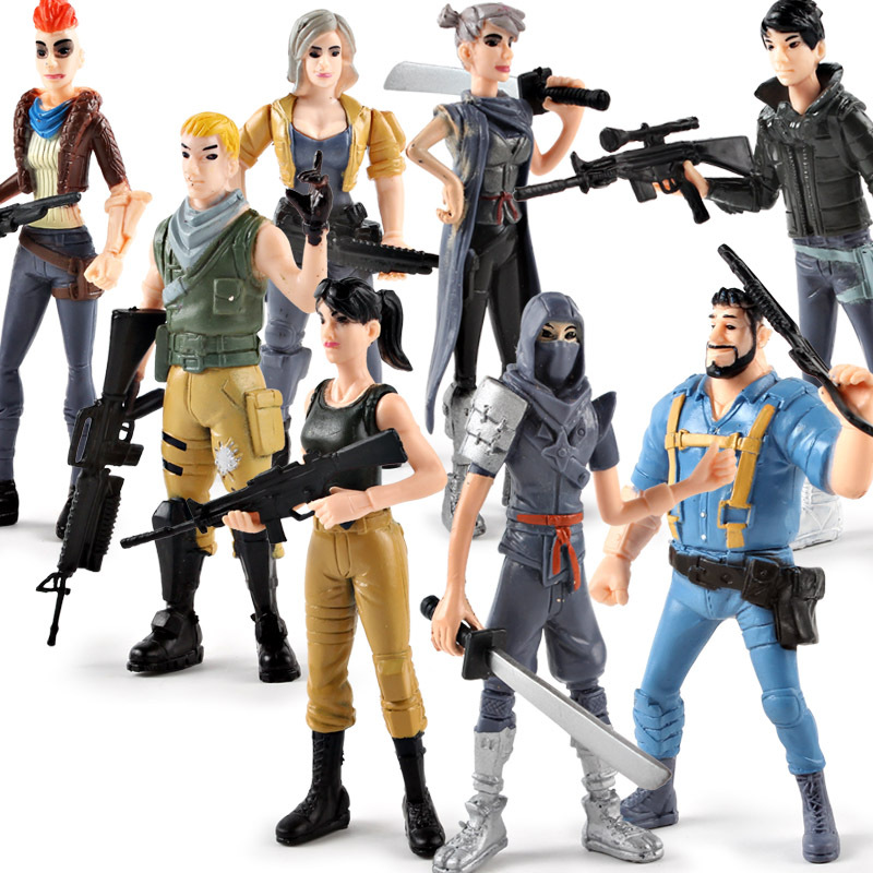 Battle Royale Action Figure PVC Model Popular Season 8 Fortress Night Character Model Hot Shooting Game Doll Toy Birthday Gifts 1