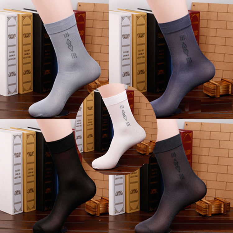 10 Pairs/lot Men Sock High Quality Business Casual Male Short Socks Summer Silk Thin Transparent Durable Breathable Sock