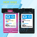 For HP 652 652XL Black Color Ink Cartridge for HP652 Deskjet 1115 1118 2135 2136 3635 3636 3638 4535 4536 4538 4675 4676 Printer