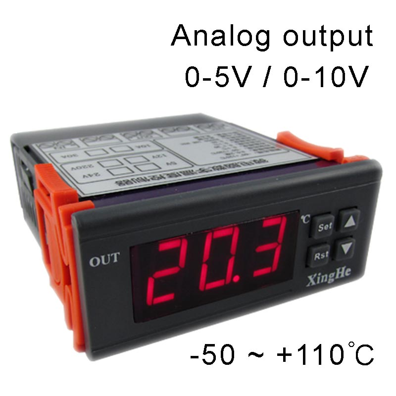 Analog Output Thermostat Output Voltage 0-5V Or 0-10V To Control Your Frequency Converter Or Adjustable Power