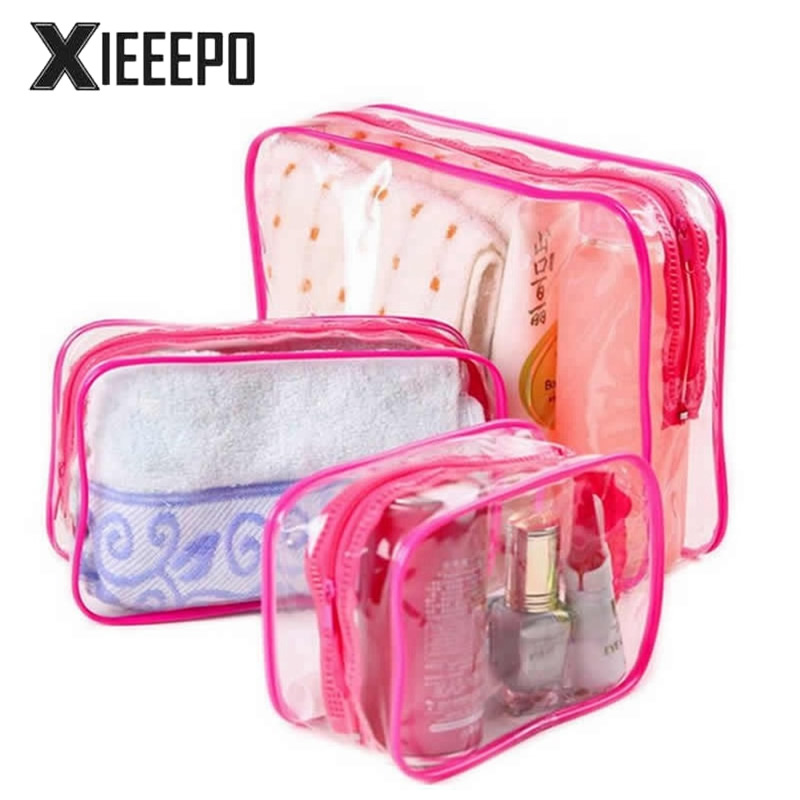 3PCS/Set Women Transparent Cosmetic Bag Clear Zipper Travel Make Up Case Makeup Beauty Organizer Storage Pouch Toiletry Wash Bag 3pcs set women transparent cosmetic bag clear zipper travel make up case makeup beauty organizer storage pouch toiletry wash bag page 7