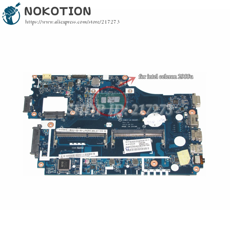 NOKOTION NB.MFM11.00A NBMFM1100A V5WE2 LA-9532P Laptop Motherboard For Acer aspire E1-532 E1-532P MAIN BOARD DDR3L цены онлайн