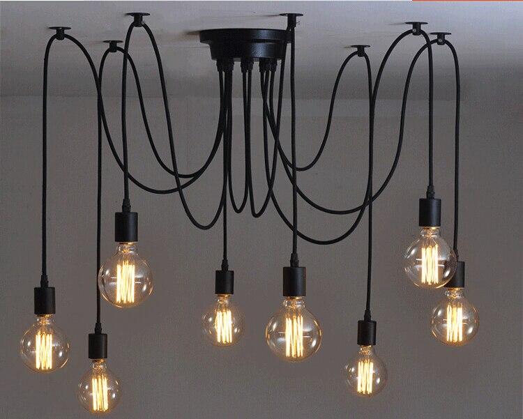 Modern Net Retro Classic Chandelier 8 E27 Spider Lamp Pendant Bulb Holder Group Edison Diy Lighting Lamps Messenger Wire In Chandeliers From Lights