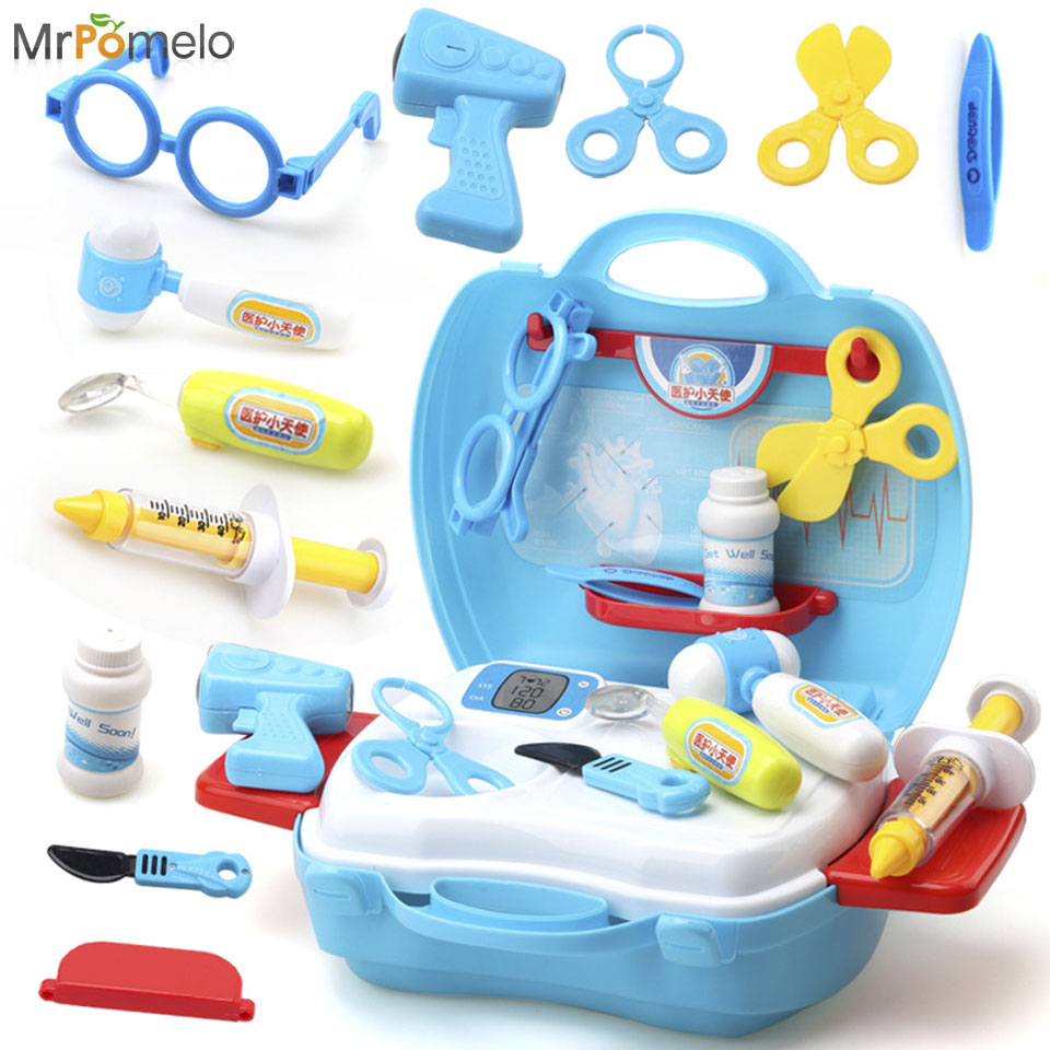 MrPomelo Pretend Play Toys Doctor Set for Kids with Durable Box ...