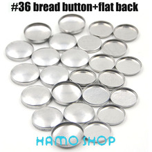 Free Shipping 50sets/lot #36 Aluminum Bread Shape Round Fabric Covered Cloth Button Cover Metal Jewelry Accessories