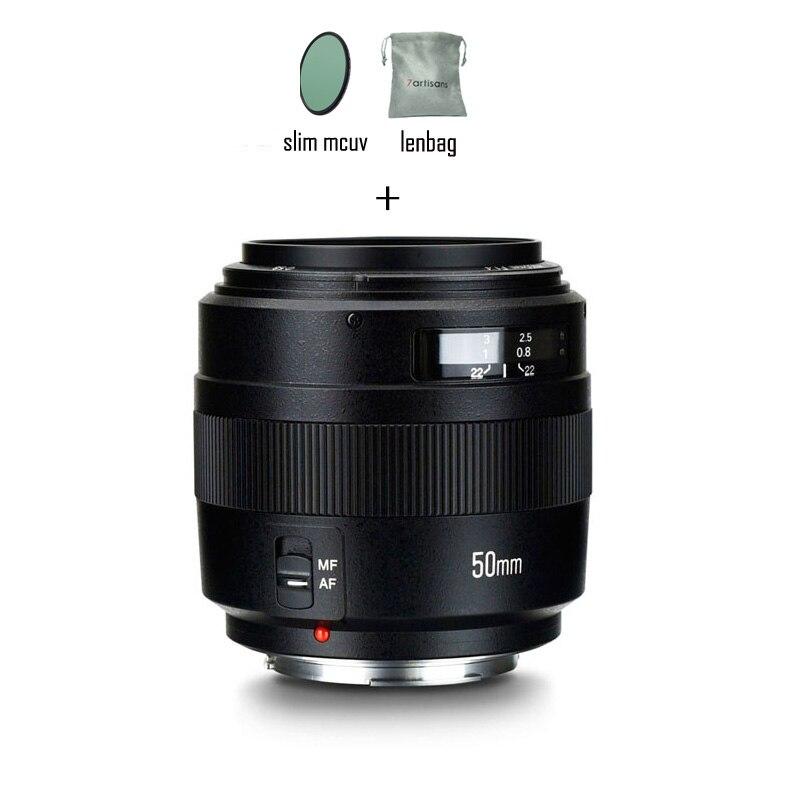 YONGNUO 50mm YN50mm F1.4 objectif EF Standard objectif de mise au point automatique à grande ouverture pour Canon EOS 1200D 1300D 850D 5DIV 7D 80D