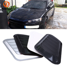 2x Universal Auto Car Decorative Air Flow Intake Scoop Turbo Bonnet Vent Cover Hood Car Styling Stickers Fit for Mercedes Benz