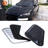 POSSBAY Universal Car Air Flow Vent Shark Griiles Side Fender Covers Auto Intake Turbo Bonnet Hood Stickers Decoration