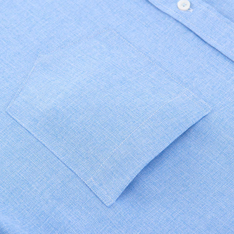 夏メンズファッションカジュアルシャツ半袖ドレスシャツ社会メンズスリム無地模造ラインシャツカミーサ masculina