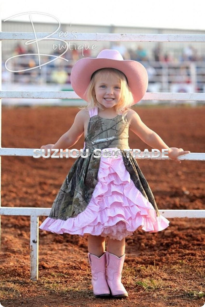 dfd4e3de8d8 2016 New Arrivals Square neck Camo Flower Girl Dresses 2016 Pink ...