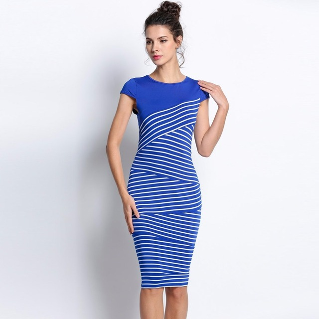 Formal Dress With Short Sleeve Work Dresses For Woman