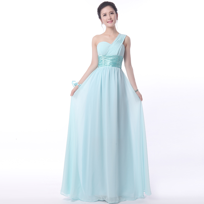 fbfbdfd47b 2017 new Bridesmaid Dresses plus size stock cheap under  50 long light blue  chiffon graduation party sexy hot simple JYX0006 jyx-in Bridesmaid Dresses  from ...