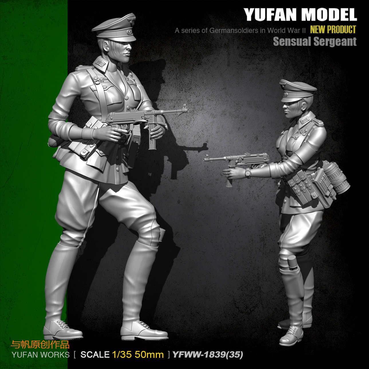 1//35 jungfräuliche unbemalte Modellbausätze YuFan Model Resin Solider A0G4 L6Z8