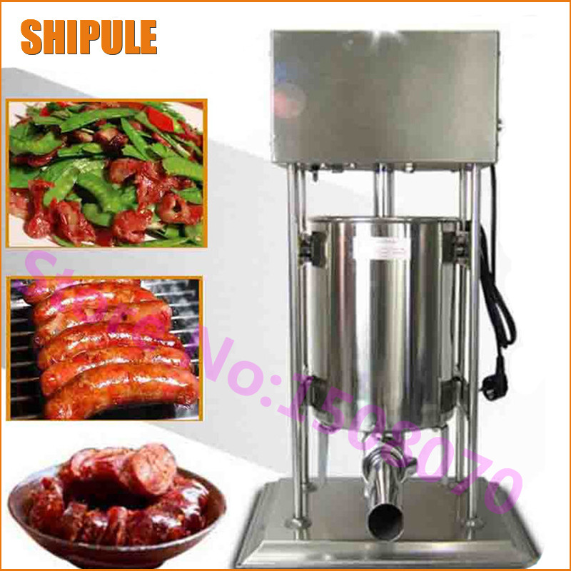 Factory price 25L vertical electric sausage machine stainless steel commercial sausage stuffer filler maker machine
